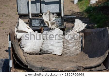 Persoon plantage trekker zak schop Stockfoto © robuart