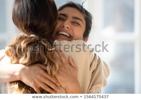 Dois atraente jovem irmãs juntos Foto stock © Giulio_Fornasar