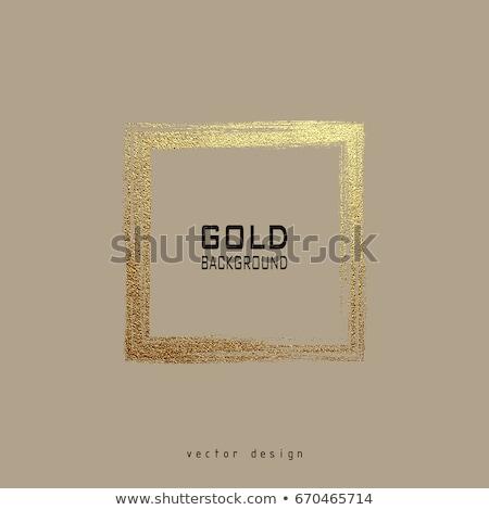 Absztrakt arany ecset keret terv festék Stock fotó © SArts