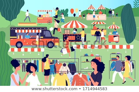 Tienda ropa mujeres verano justo vector Foto stock © robuart