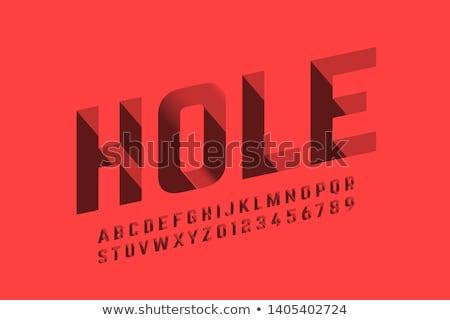 Pixel betűk ábécé számok vektor pixeles Stock fotó © robuart