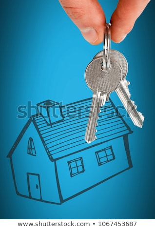 hand · huis · sleutel · 3D · handen - stockfoto © wavebreak_media