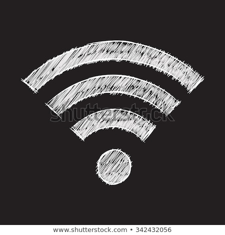 Wifi symbole cartoon dessin rétro style Photo stock © patrimonio