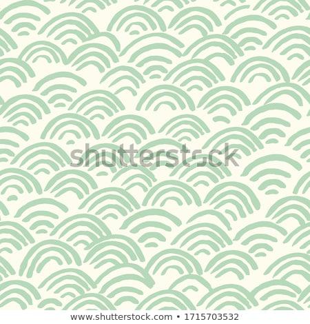 パターン 装飾的な 緑 ベクトル 手描き ストックフォト © Margolana