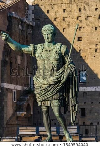 César estatua antigua vista mercado Roma Foto stock © boggy