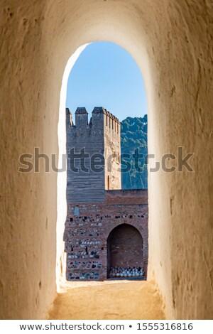 Nisza alhambra pałac kamień architektury wzór Zdjęcia stock © borisb17