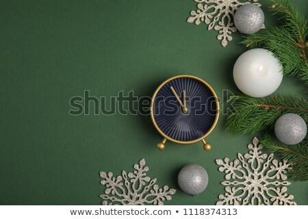 Navidad color relojes alarma dorado estrellas Foto stock © almaje