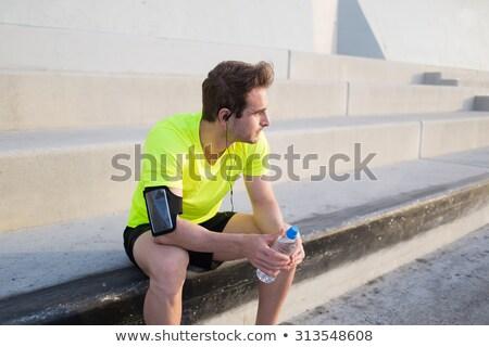 Motivação esportes saúde bonito encantador jovem Foto stock © benzoix