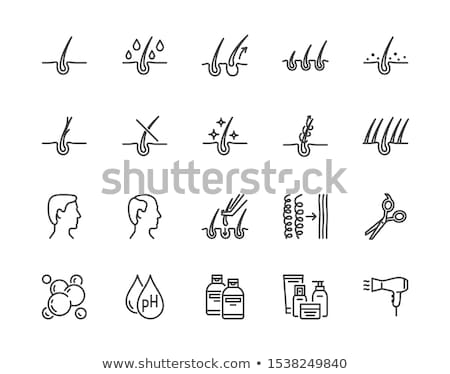 Man Hair Loss Icon Vector Outline Illustration Stock photo © pikepicture