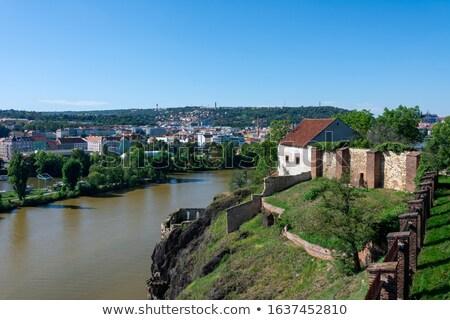 Ther river Vltava river in Prague Stock photo © manfredxy