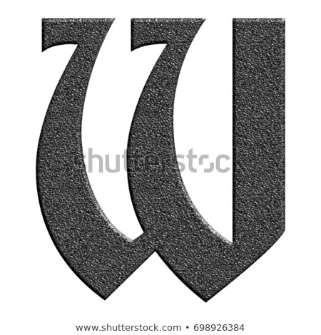 Classic old fashioned font Letter W 3D Stock photo © djmilic