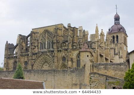Abdij Frankrijk gebouw architectuur geschiedenis tempel Stockfoto © phbcz