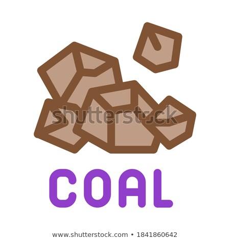 Carvão partículas ícone vetor ilustração Foto stock © pikepicture