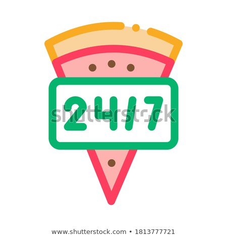 Horloge pizza icône vecteur illustration Photo stock © pikepicture