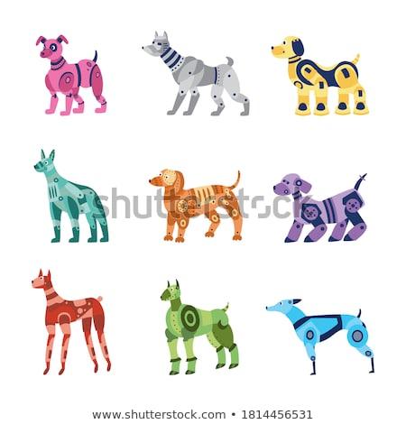 Vektor rajz gépi robotikus kutya játék Stock fotó © designer_things