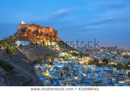 Fort schemering Indië beroemd indian toeristische Stockfoto © dmitry_rukhlenko