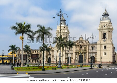 Main facade of Cathedral Basilica of Lima in Lima, Peru Stock photo © boggy