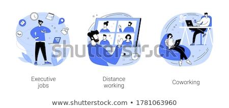 Collaboration and coworking vector concept metaphor Stock photo © RAStudio