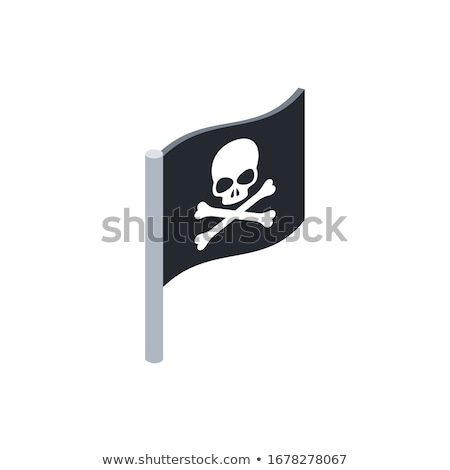 пиратских флаг изометрический икона вектора знак Сток-фото © pikepicture