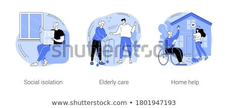 Opieki niepełnosprawnych streszczenie inwalidztwo syndrom starszy Zdjęcia stock © RAStudio