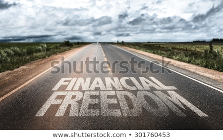 Debt Free Highway Sign Stock photo © kbuntu