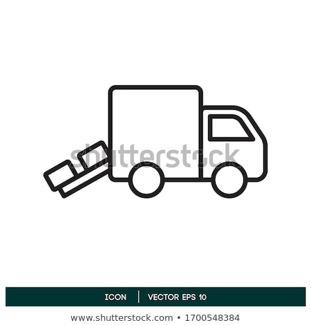 Vector delivery van Stock photo © mechanik