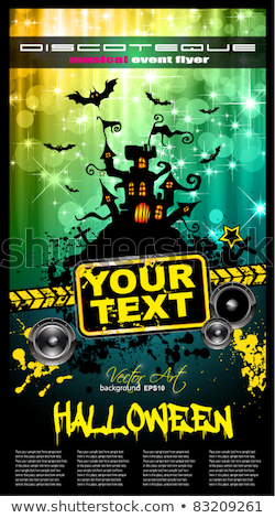 Suggestive Hallowen Party Flyer Stock photo © DavidArts
