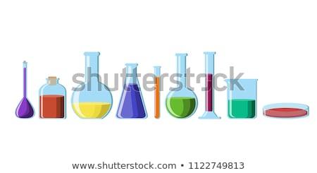 Kimyasallar cam şişeler tıbbi dolap bilim Stok fotoğraf © prill