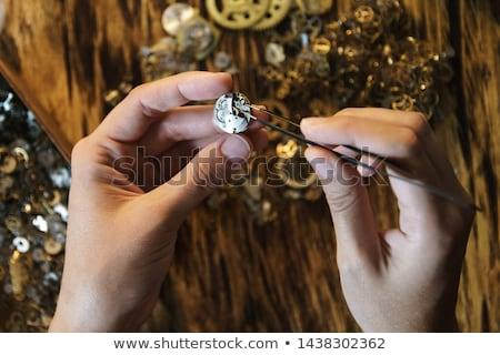 metallic tweezers stock photo © prill