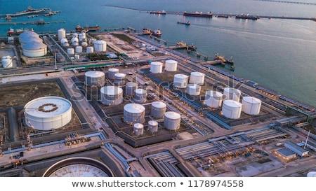 olie-industrie · raffinaderij · veld · hemel · groene · olie - stockfoto © deyangeorgiev