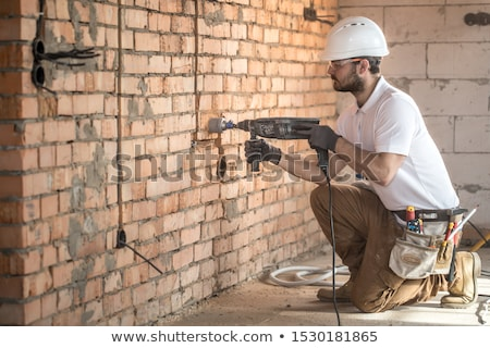 plombier · cuivre · tuyaux · mur · maison · construction - photo stock © photography33