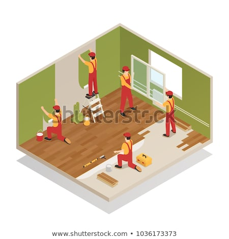 man laying parquet stock photo © photography33