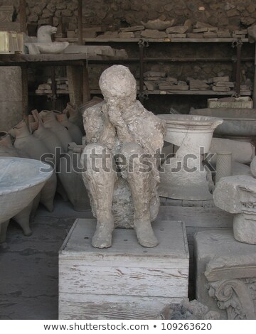 Replica of Pompeii Victim Stock photo © searagen