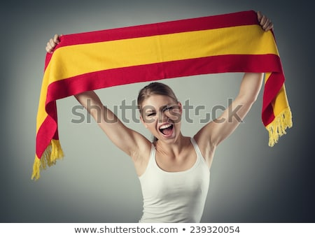 female spanish football fan stock photo © photography33