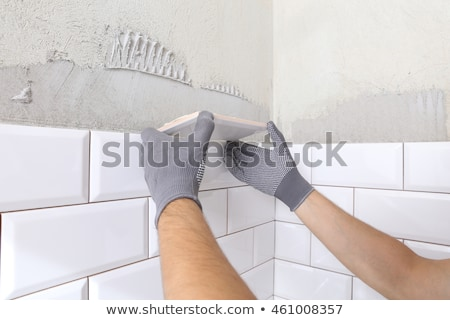 Plumber working in a tiled room Stock photo © photography33