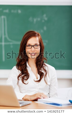 Lecturer sat near students Stock photo © photography33