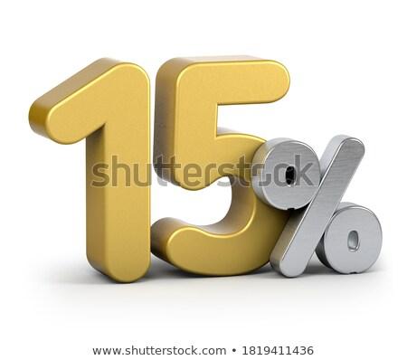 Vijftien korting cijfers procent 15 Stockfoto © deyangeorgiev