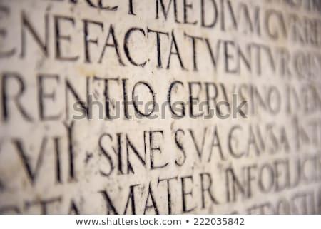Vecchio iscritto pietra testo Foto d'archivio © Kacpura
