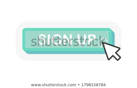 Zdjęcia stock: Zielone · przycisk · strony · kursor · biały · działalności