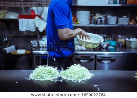 Okonomiyaki   Typical Japanese Food  Stock photo © yoshiyayo