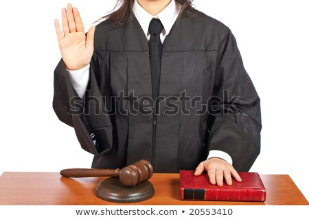 Female judge taking oath Stock photo © broker