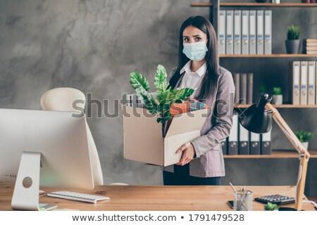 бизнесмен · позируют · камеры · белый - Сток-фото © stockyimages