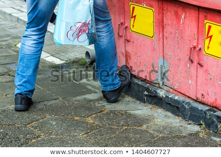 A road worker shouting instructions. Stock photo © photography33