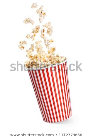 Popcorn gestreift Paket Mais Jahrgang Stock foto © idesign