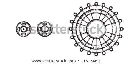varr · szimbólumok · szett · tő · kerék · konzerv - stock fotó © sanjanovakovic