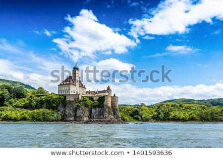Castelo danúbio rio baixar Áustria viajar Foto stock © phbcz