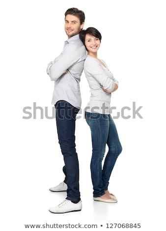 女性 · 若い男 · 孤立した · 男 - ストックフォト © acidgrey