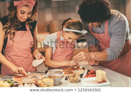 meisje · pizza · meisje · licht - stockfoto © photography33