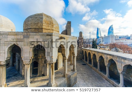 Minaret gebouw stedelijke bidden architectuur geschiedenis Stockfoto © jakatics