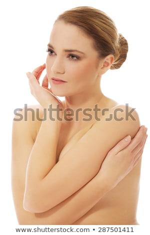 Stockfoto: Topless · vrouw · lichaam · borsten · portret · mooie